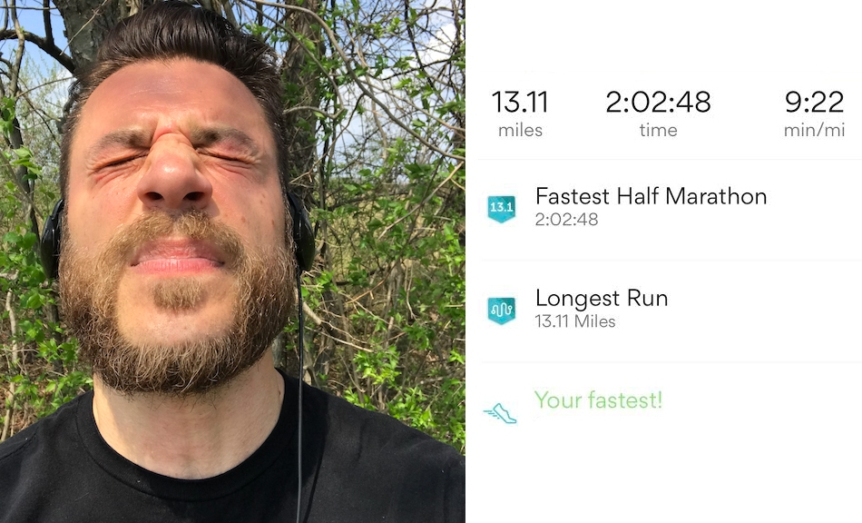 accidental half marathon